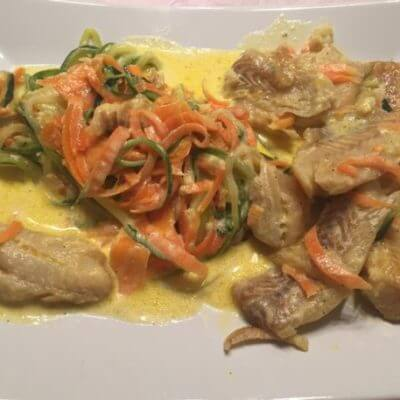 Fisch in Gemüsesoße