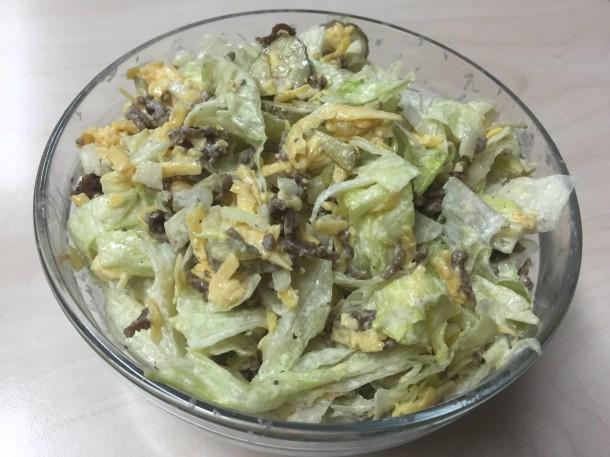 lowcarb rezept big mac salat lowcarb community. Black Bedroom Furniture Sets. Home Design Ideas